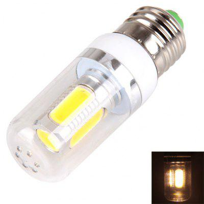 E27 11W 11 x COB LED White Corn Lamp with Transparent Lamp Shade