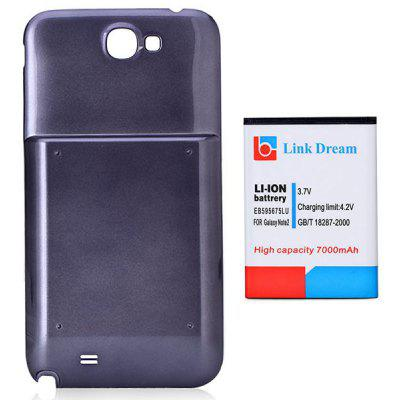 Link Dream High Capacity 3.7V 7000mAh Durable Lithium - ion Battery and PC Back Cover for Samsung Galaxy Note 2 N7100