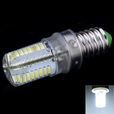 E14 4W 64 x 3014 SMD LED AC220V 300lm White 6000 - 6500K Corn Lamp