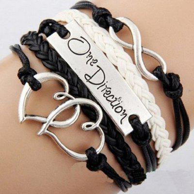 Letter Patterns Infinity Heart Layered Friendship Bracelet