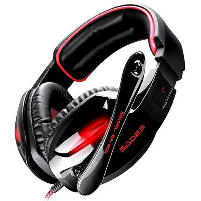 Sades SA - 902 7.1 Surround Gaming Headset/ Headphone Head Band Earphones with Microphone and Volume Control