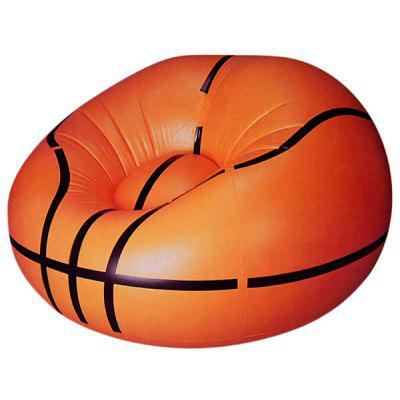 Inflatable Basketball Shape Sofa Seat Inflatable Couch for Indoor and Outdoor Activities