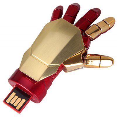 16GB Iron Man Robot Flessibile Disco Flash USB a Forma di Palma