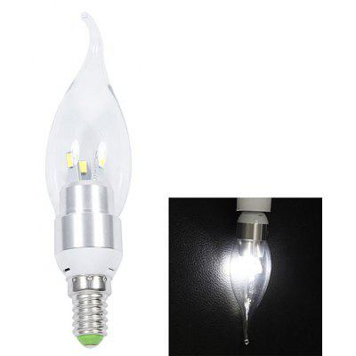 Buy WHITE E14 200lm 3W 6 SMD 5630 LED AC220V 6000K White LED Candle Pull Tail Light for $2.04 in GearBest store