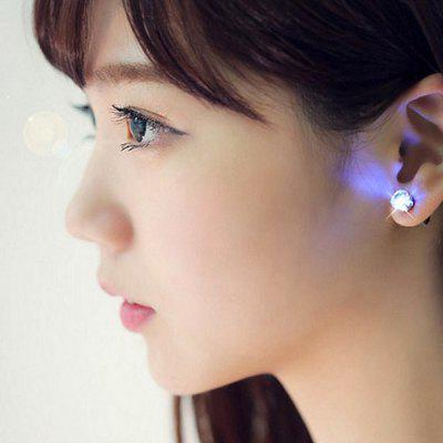 Korean Delicate and Sweet Zirconium Drill Flashing LED Ear Studs