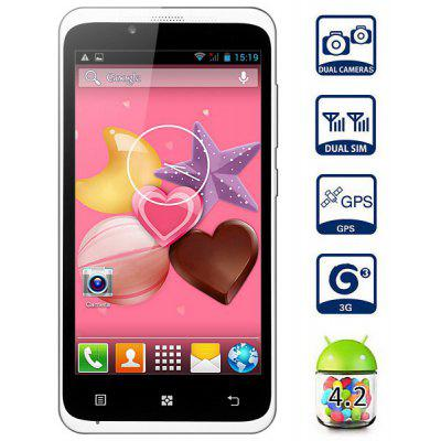 Android 4.2 Mpie T9188 3G Smartphone with 4.5 inch WVGA Screen MTK6572 Dual Core 4GB ROM Gesture Sensing GPS Dual Camera