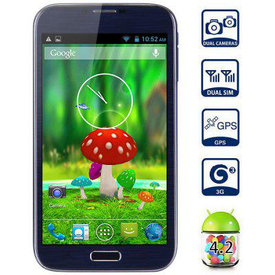 Android 4.2 Mpie N9005 3G Phablet with 6.0 inch WVGA Screen MTK6582 Quad Core 1GB RAM 4GB ROM GPS Gesture Sensing Dual Camera