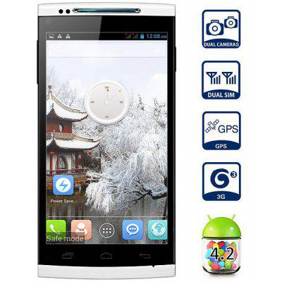 Cubot X6 Android 4.2 3G Phablet with 5.0 inch HD IPS Screen MTK6592 Octa Core 1GB RAM 16GB ROM OTG GPS Dual Camera