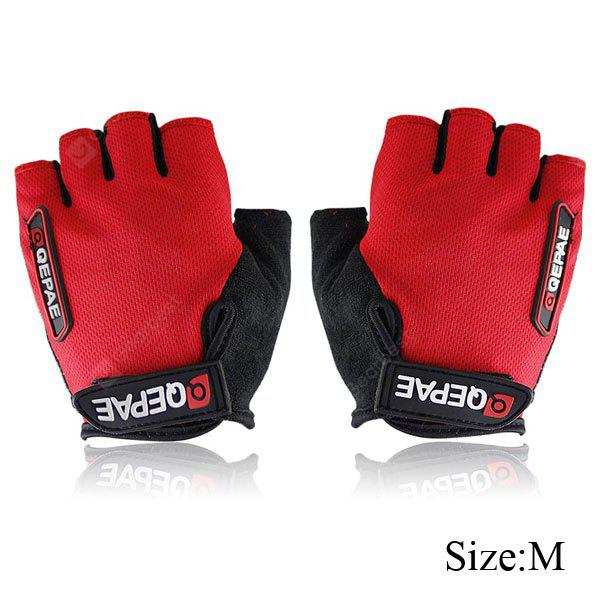 2PCS Comfortable M Size Bicycle Bike Silicone Half Finger Gloves Cycling Gloves