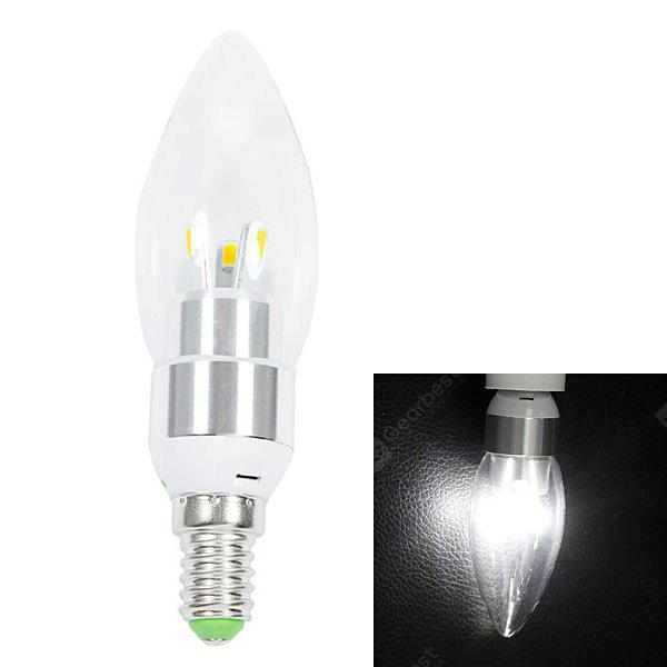 WHITE E14 200lm 3W 6 SMD 5630 LED AC220V 6000K White LED Candle Light
