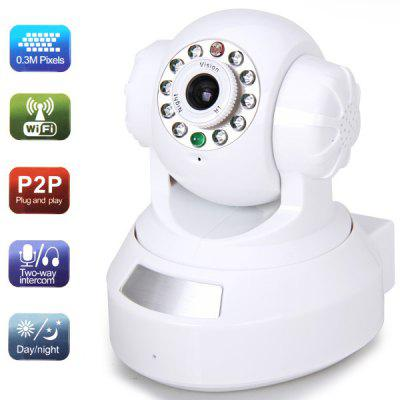 RP203 Plug and Play 0.3 Million Pixels IP Wireless/Wired Camera with 10 IR LED Lights