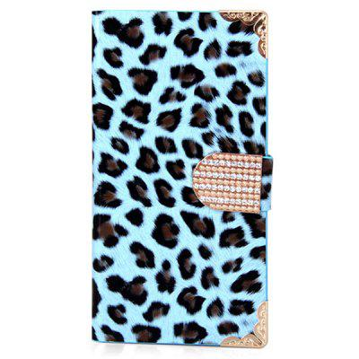 Leopard Style PU + PC Case with Card Holder for Samsung Galaxy S5 i9600 SM-G900