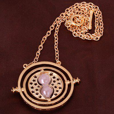 Time Turner 18K Gold Necklace in Harry Potter