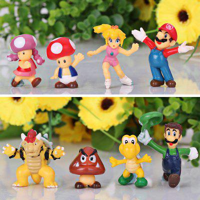 8PCS Super Mario Cartoon Character Model