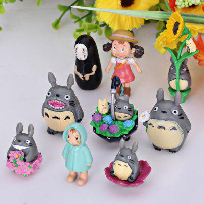 9PCS My Neighbor Totoro Design Characteristic Action Figure/Figurine Models for Fans