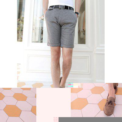Slimming Straight Leg Cotton Blend Shorts