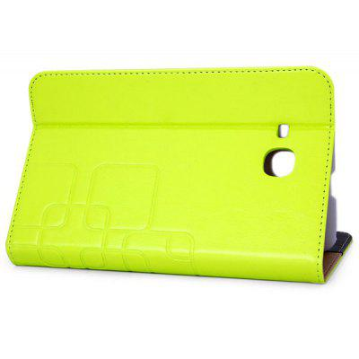 Fashionable Artificial Leather Material Stand Case Professional with Rear Protect Shell for 7 inch Samsung T110 Tablet PC