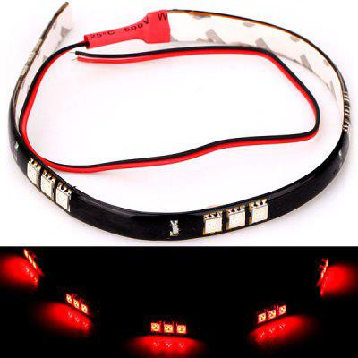 15 LEDs Flexible Strip Light 30CMRed Light LED String Decorative Lamp for Car Body