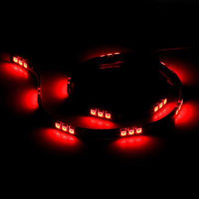 30 LEDs Flexible Strip Light 60CM Yellow Light Highlight LED String Decorative Lamp for Car Body