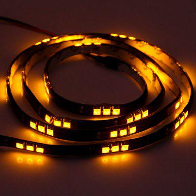 60 LEDs Yellow Light Flexible Strip Light 120CM Highlight LED String Decorative Lamp for Car Body