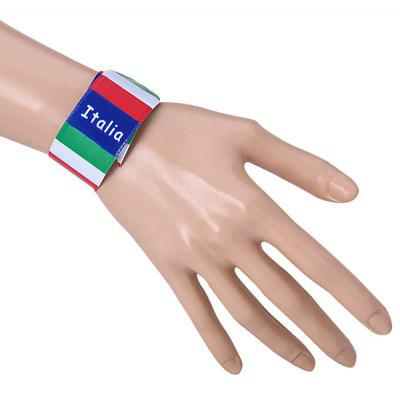 Excellent Italy Flag Design Wristband / Bracelet for 2014 Brazil World Cup Football Fans