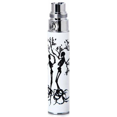 Crystal Flower Button Spared 650mAh Rechargeable E - Cigarette Lithium Battery Luminous Tube Dotted with Ghost Tree Pattern