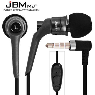 JBMMJ MJ6600 Flat Wire Intelligent Mobile Phone Earphones with Burn - in Software CD Perfect Fit for iPad iPod iPhone Samsung etc