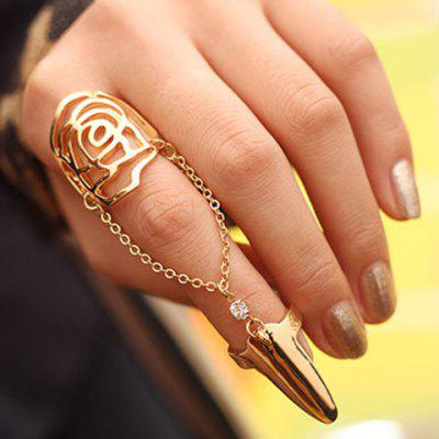 Trendy Openwork Flower Pattern Ring For Women
