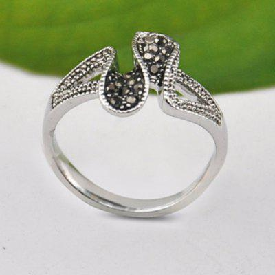 Chic Rhinestone Curved Ring For Women