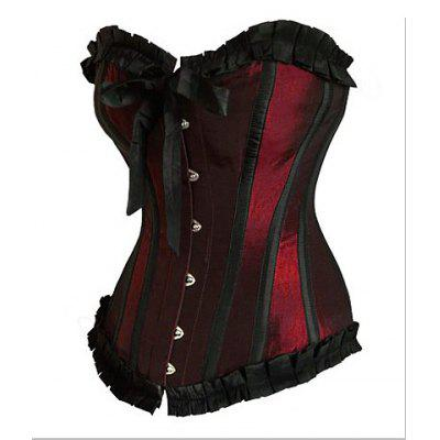 Slimming Ruffled Polyester Corset For Women