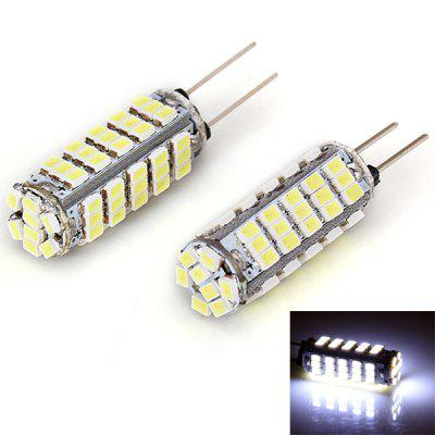 2pcs / Pack Circuit Board 12V G4 SMD 3020 68 LED White Light Bulbs for Auto Car Instrument / Reading / Side Marker Width Lamp