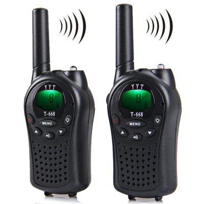 T - 668 8 - Channel LCD Screen VOX Walkie Talkie 5km Range Twintalker PMR Autoscan with Belt Clip/ Call Alert/ Flashlight