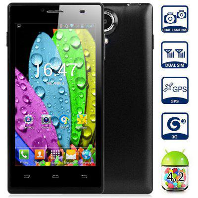 Android 4.2 MPIE G6 3G Smartphone with 4.5 inch WVGA Screen 1.3GHz MTK6572 Dual Core 4GB ROM GPS Dual Cameras