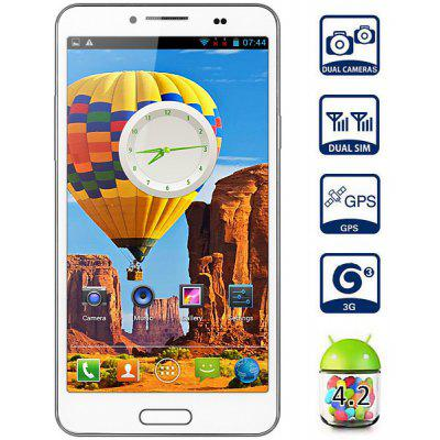 Android 4.2 Mpie N9950 3G Unlocked Phone with 5.5 inch QHD IPS Screen MTK6582 Quad Core 1.3GHz 1GB RAM GPS Dual Cameras