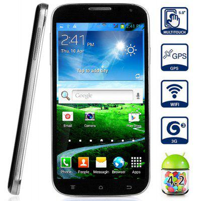 Mpie S5 Android 4.2 3G Phablet Gesture Sensing Unlocked Phone with 5.0 inch 1.3GHz Dual Core 4GB ROM GPS Dual Cameras