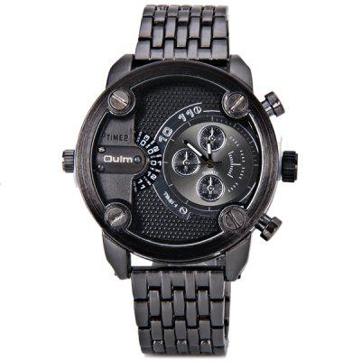 Oulm Popular Waterproof Men Watch Analog with Double - movt Round Dial Steel Watch BandMens Watches<br>Oulm Popular Waterproof Men Watch Analog with Double - movt Round Dial Steel Watch Band<br><br>Band material: Stainless Steel<br>Brand: Oulm<br>Case material: Stainless Steel<br>Clasp type: Buckle<br>Display type: Double show<br>Movement type: Quartz watch<br>Package Contents: 1 x Watch<br>Product size (L x W x H): 24.00 x 5.00 x 1.50 cm / 9.45 x 1.97 x 0.59 inches<br>Product weight: 0.1680 kg<br>Shape of the dial: Round<br>The dial diameter: 5.0 cm / 2.0 inch<br>The dial thickness: 1.5 cm / 0.6 inch<br>Watch style: Fashion<br>Watches categories: Male table<br>Water resistance : 30 meters