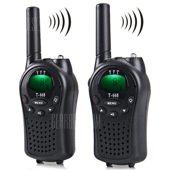 T - 668 8 - Channel LCD Screen VOX Walkie Talkie