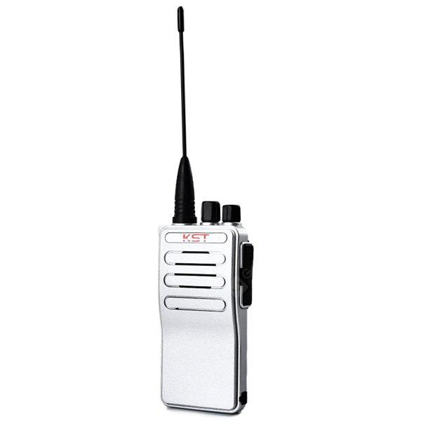 KST K - 888 400 - 470MHz CTCSS / DCS Code Programmable VHF/UHF FM Transceiver Walkie Talkie Two - way Radio Interphone Voice Prompt SILVER
