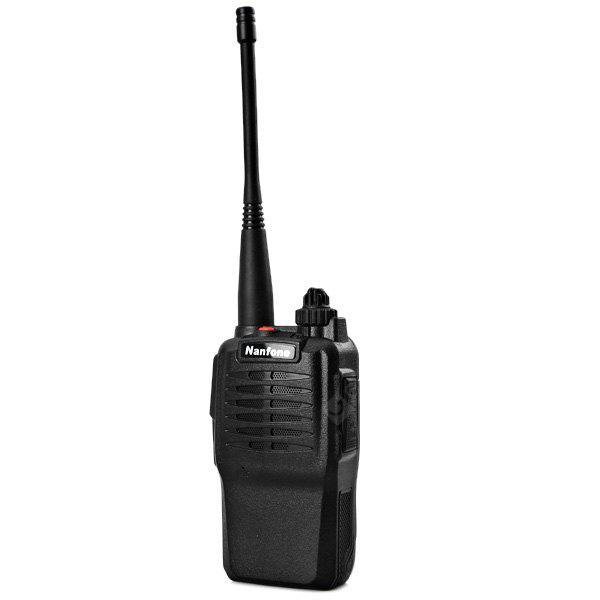 Nanfone NF - 668PLUS Professional FM Transceiver 16 Memory Channels Two - way Radio Interphone Handheld Walkie Talkie BLACK