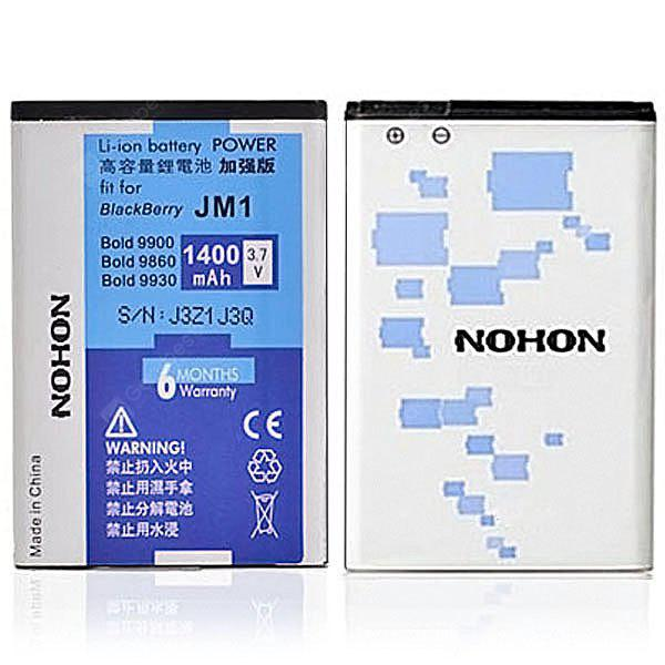 NOHON High Capacity 3.7V 1400mAh Replacement Battery for Blackberry 9900 9930 Bold touch Monza 9860 9850 Monaco Touch Storm 3 Bold 9790 Curve 9380