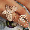 Diamante Double Butterfly Ring - GOLDEN