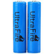 UltraFire 18650 2400mAh 3.7V Li - ion Rechargeable Battery with Protection Board  -  2PCS