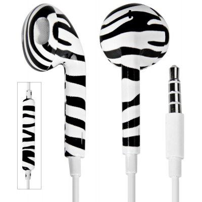 Stylish Zebra Line Pattern Universal 3.5mm Plug Earphone