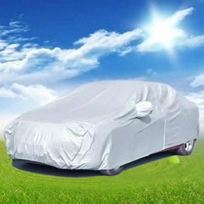 Silver Oxford Fabric Sun - resistant Car Cover for Ford Focus Hatchback UV Protection Water Resistant Dustproof Cover