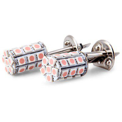 2PCs / Set H1 5050 27 LEDs Super Bright LED Bulbs Car Brake Light / Turn Signal Light  -  Pink Light