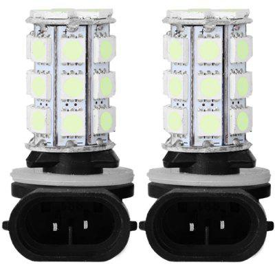 Pair of Ice Blue Light 881 SMD 5050 27 LEDs Car Lamp Bulbs Motorcycle Car Fog Lamp (Pair)