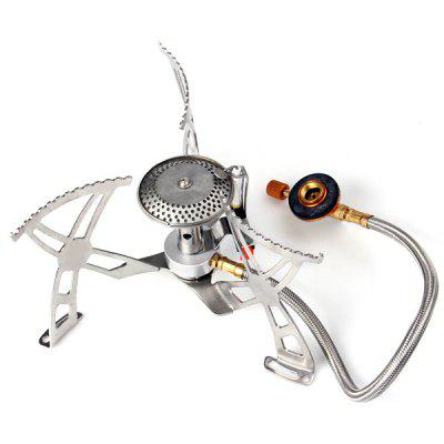 Mini Foldable Electronic Ignition Aluminum Alloy Camping Stove Butane Gas - powered