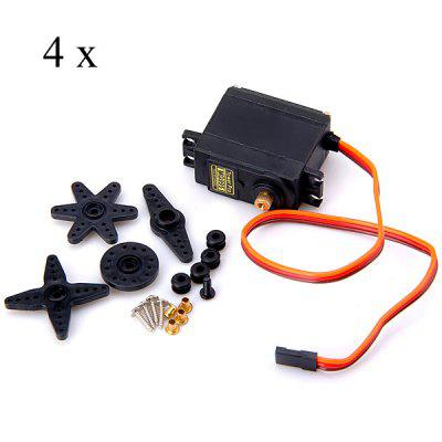 Buy Tower Pro MG995 Metal Gear Servos with Parts, 4PCS for $27.48 in GearBest store