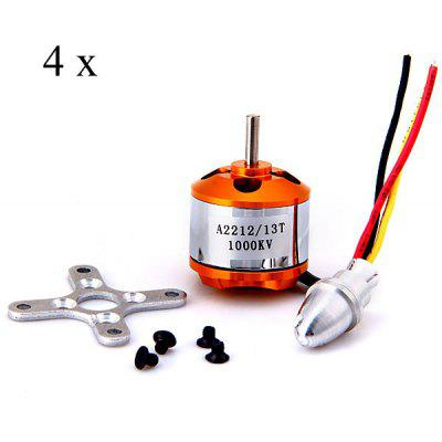 A2212 1000KV Brushless Outrunner Motor for RC Aircraft (4PCS)