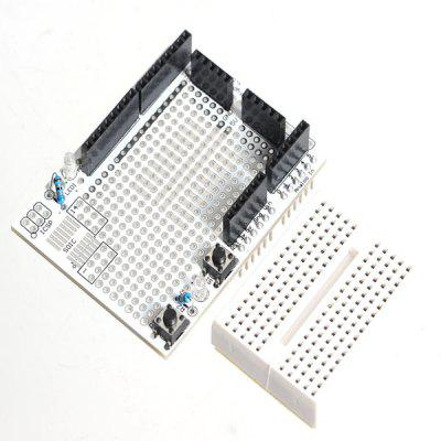 Prototype Shield + Mini Bread Board for Arduino with BlueSMiRF Socket / 5V / GND / Raw Pins